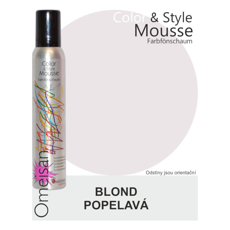 Omeisan Color & Style Mousse tužidlo blond popelavé 200 ml